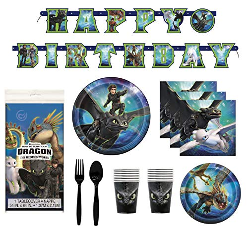 Kids Costume Party Ideas (How To Train Your Dragon 3 Birthday Decorations And Tableware Plates Napkins Cups Table Cover Banner Premium Plastic Cutlery Serves)