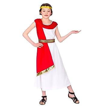 Disfraz de niña Romana (M (5-7 años 122-134cm)): Amazon.es ...