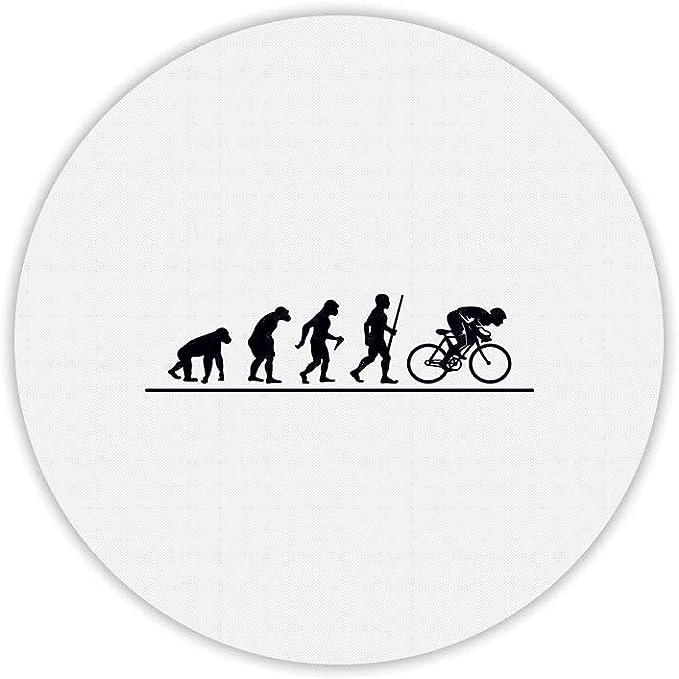 Alfombra de ratón Redondo Estampado evolución Bicicleta: Amazon.es: Informática