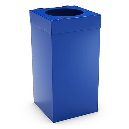 urbaniere Contenedor Reciclaje 80L Azul/Bolsas de Basura ...