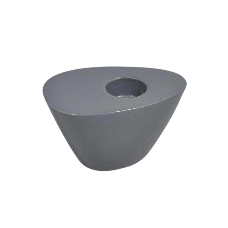 Sagebrook Home 13062-04 Ceramic Candle Holder 4.5 x 3 x 2.25 Charcoal
