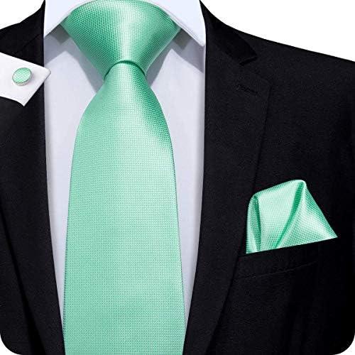 Set Hi-Tie de pañuelo y corbata de seda y de gemelos, de buena ...