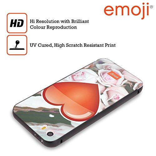 Officiel Emoji Coeur Solos Noir Étui Coque Aluminium Bumper Slider pour Apple iPhone 5 / 5s / SE