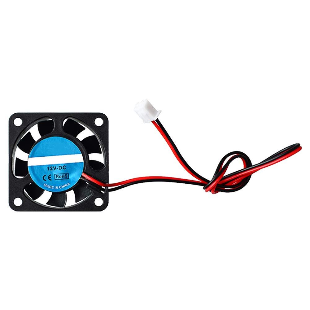 HONG111 5Pcs Cooling Fan for 3D Printer, 12V 0.18A 40x40x10mm Mini Brushless DC Cooling Fan for DIY 3D Printer Extruder Makerbot Reprap Prusa I3 Arduino