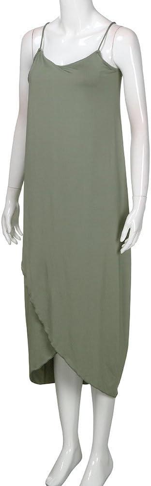 Voicry damska sukienka letnia luźne paski elegancki urlop casual impreza plażowa sukienka: Odzież