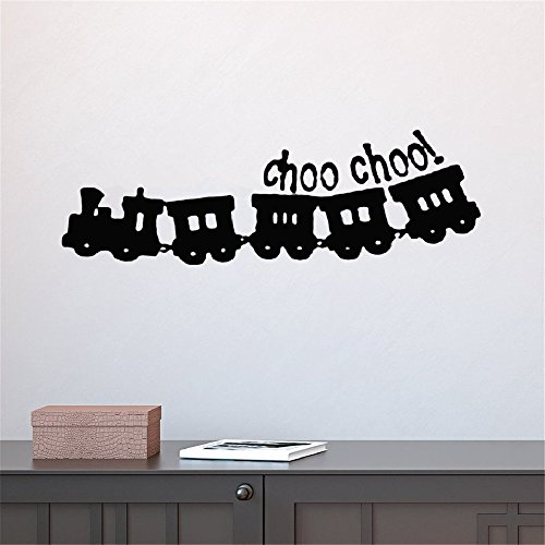 - psiuea Wall Decal Removable Quote Decor Design Decal Wall Stickers Choo Choo Train