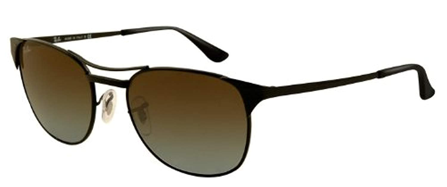 1029b134630 Amazon.com  Ray-ban Signet Rb3429 Sunglasses 006 96 Matte Black Crystal  Blue Faded Brown 53 19 135  Clothing