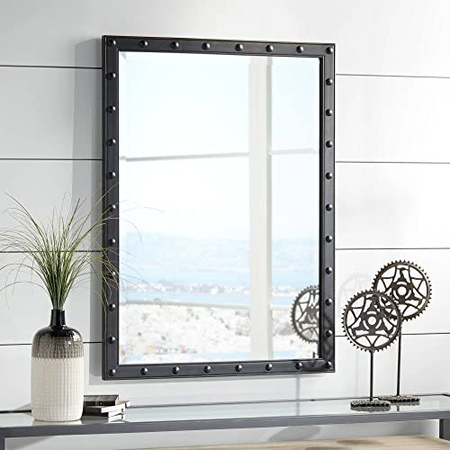 Uttermost Braddock Black 28 x 38 Frame Wall Mirror