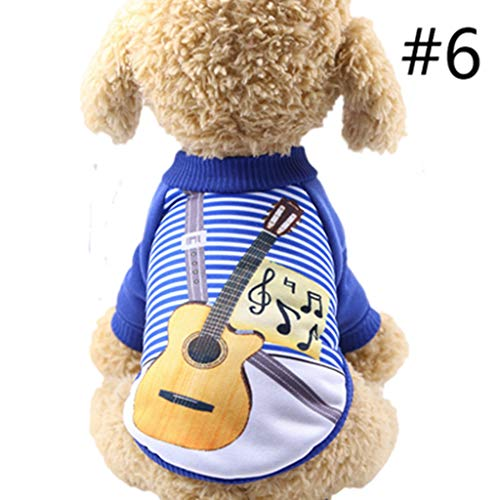 JJHYDZ Halloween Night Festivals Pumpkin Dog 100% Cotton Vest T-Shirt Clothes Awesome Uniform Doctor Pattern Style Soft Pet Accessories]()