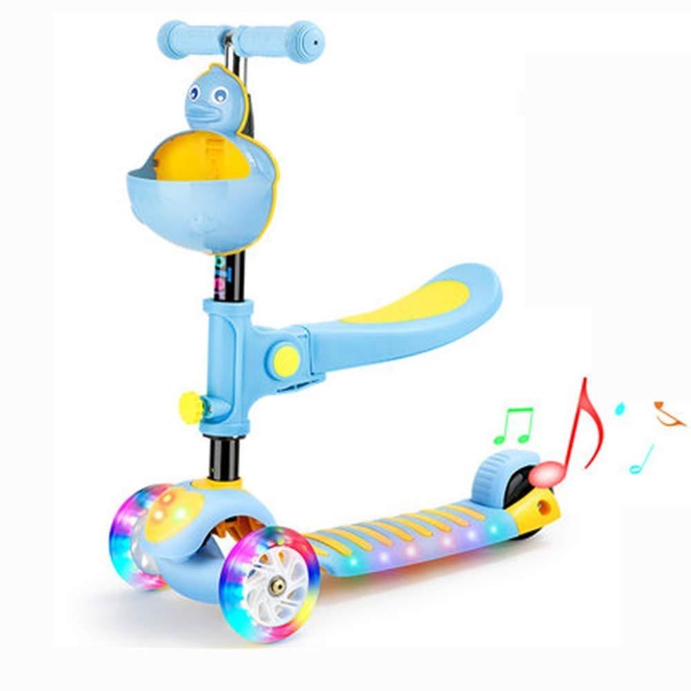 上等な スクーター幼児用スクーター 子供スクーター子供3輪キックスクーター調節可能な高さ初心者スクーター付きリムーバブル&調節可能シート 子供用スクーター : (色 : 青) B07R6HNLR7 B07R6HNLR7 青 青, サントリーおためしクラブ:2f939360 --- 4x4.lt