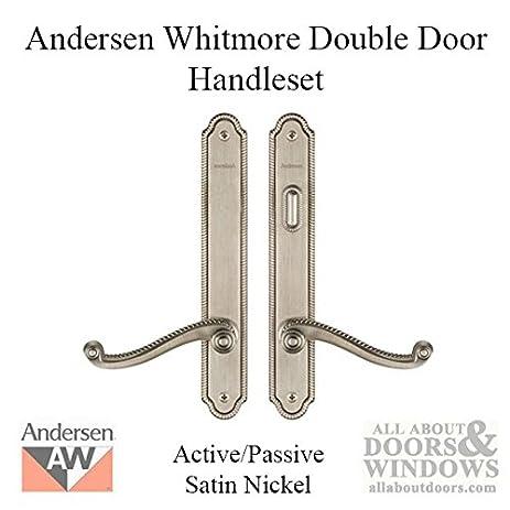 Andersen® Whitmore Style (Double Active) Hinged Door Hardware Set in ...