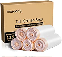 Meidong Garbage Bags,Trash Bags 49 Litres/13 Gallon Large Tall Kitchen Drawstring Strong Bags for Trash Can Garbage...