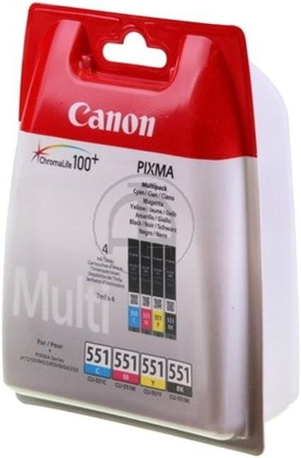 Original Tinte Passend Für Canon Pixma Mg 5550 Canon Cli 551 6509b009 4x Premium Drucker Patrone Schwarz Cyan Magenta Gelb 4x7 Ml Bürobedarf Schreibwaren