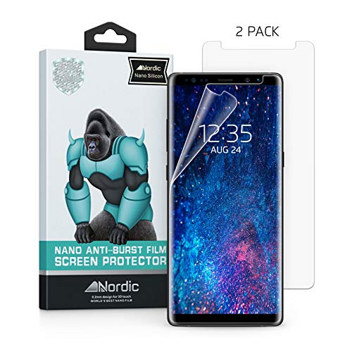 ([2-Pack] Nordic Nano Film (Case Friendly) Screen Protector for Samsung Galaxy Note 9 & Note 8 (Updated Version) Anti Bubble Free)
