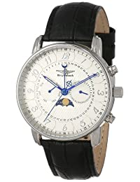 Breytenbach Men's BB77101W Swiss Ronda Moonphase Day Date Week Watch