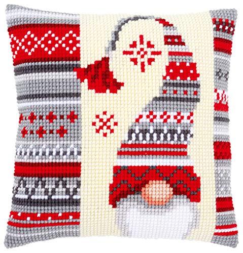 Vervaco Christmas Elf Pillow Cover Needlepoint Kit