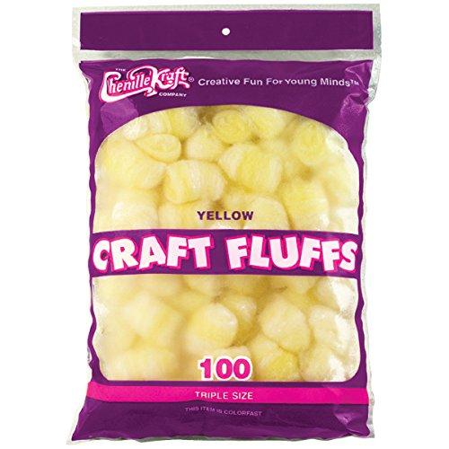 (Creativity Street Craft Fluffs (100 Pack), 4 oz, Yellow)