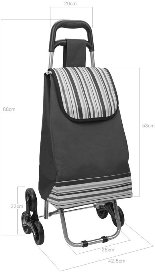 KFDQ Old Person Shopping Trolleys,Shopping Cart Loading Cart Small Pull Cart Home Trolley Car Trolley Climbing Stairs Folding Portable Pull Cart Trailer