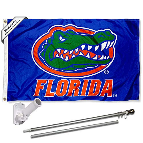 Florida Gators Blue Flag with Pole and Bracket Kit for sale  Delivered anywhere in USA