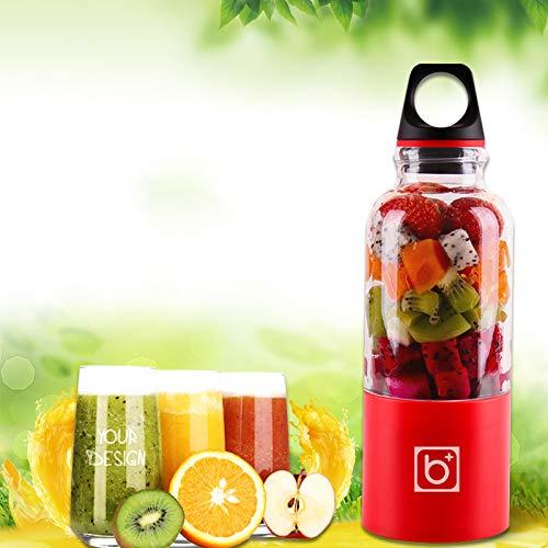 Gano Zen 500ml Portable Juicer Cup USB - Rechargeable Electric Automatic Bingo Vegetables Fruit Juice Tool - Maker Cup Blender - Mixer Bottle by Gano Zen (Image #1)