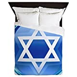 Queen Duvet Cover Blue Star of David Jewish