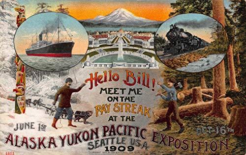 Poster Style Postcard Alaska Yukon Pacific Exposition Seattle, Washington~122441