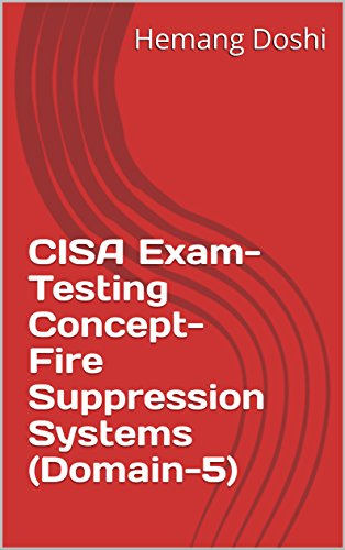 - CISA Exam-Testing Concept-Fire Suppression Systems (Domain-5)