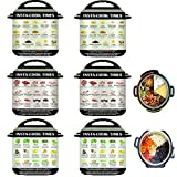 Instant Pot Accessories-6 Pieces Instant Pot Cheat Sheet Magnets, Colored Textual Description and Food Images Cooking Times for 45 Common Prep Functions, Food Cooking Magnetic Sheet for Instant Pot