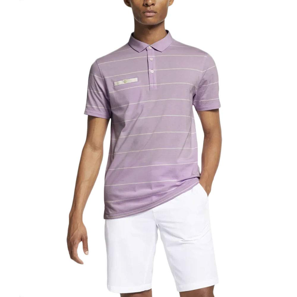 Violet (Morado 543) L Nike Dri-fit Player Polo Homme