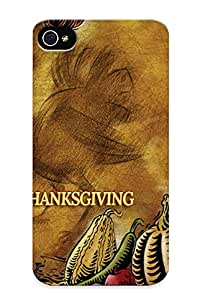 Anti-scratch And Shatterproof Happy Thanksgiving Phone Case For Iphone 4/4s/ High Quality Tpu Case