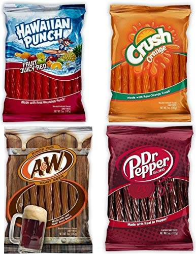 (Soda Pop Licorice Twists 5oz Variety Pack Flavors Include A&W Root Beer Dr Pepper Orange Crush And Hawaiian Punch)