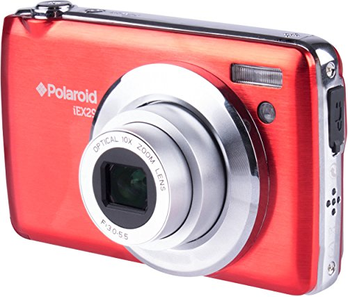 Polaroid IEX29-RED HD 18 MP Optical Zoom Digital Camera with 2.4 Inch Preview Screen, Red