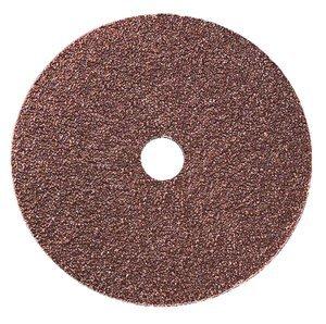 4-1/2'' x 7/8'' 24 Grit Aluminum Oxide Fiber Sanding Disc, Pack of 10