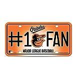Orioles MLB #1 Fan Metal License Plate