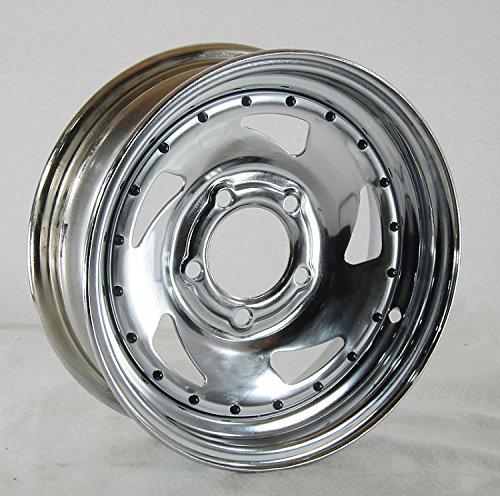 GBC Motorsports 13 x 4.5 Chrome Blade Trailer Wheel 5 on 4.50 Lug, 1,660 lb Load Capacity by GBC Motorsports (Image #1)