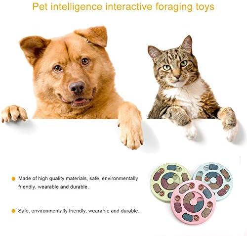 leonBonnie Pet Educational Toys Dog Puzzle Toys Interactive Slow Dispensing Feeding Pet Dog Training Games Feeder