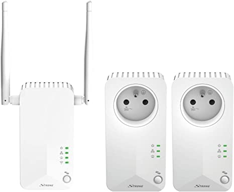 Strong Wlan Cpl 500 Mbit S Set With 3 Adaptors 2x Computers Accessories