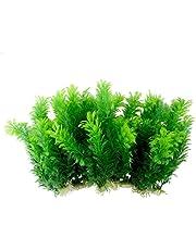 Saim Green Artificial Plastic Plants Set Aquarium Decor Fish Tank Ornament 30cm Tall Pack of 10