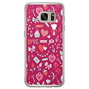 Loud Universe Samsung Galaxy S7 Edge Love Valentine Files Valentine 36 Printed Transparent Edge Case - Multi Color