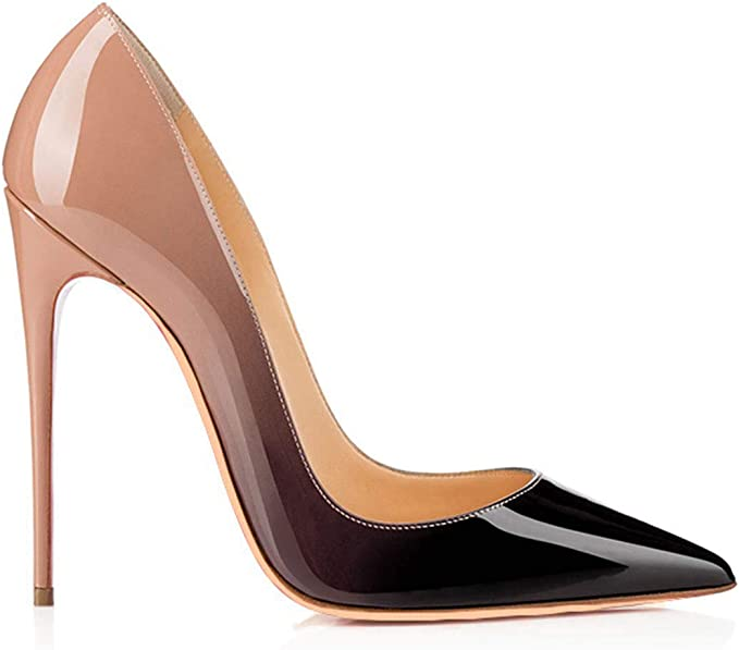 Details about  /Hot Womens Pointy Toe High Heels Pumps Patent Leather Stiletto Shoes Nightclub D