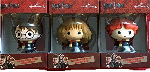 Set of 3 Hallmark Harry Potter, Ron Weasley & Hermione Granger Ornaments