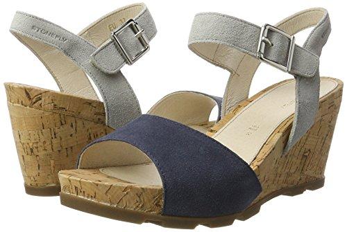 Stonefly Blue Sandals Heels Wedge denim 1 Anita U11 Women's rxYqAr1