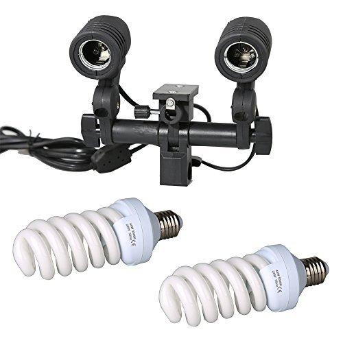 - Godox 90w Photo Studio Strobe Light AC Slave Flash Bulb E27 Light Stand Swivel Light Holder with Lighting Umbrella Adapter