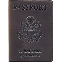 Shvigel Leather Passport Cover - Holder - for Men & Women - Passport Case