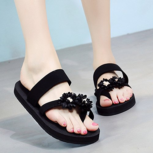 FLYRCX Ocio al aire libre de moda de verano de fondo plano pie flip flops sandalias sandalias sandalias de damas zapatillas cool. h