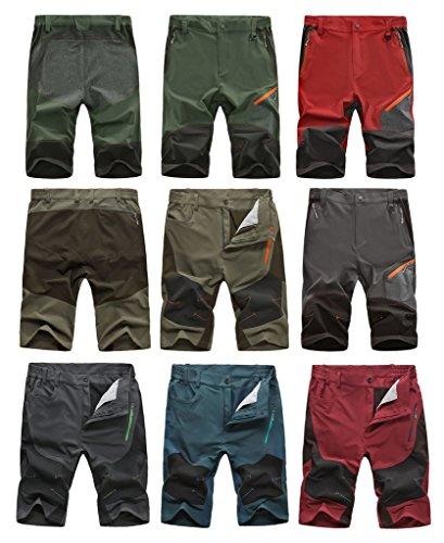 HengJia Men's Quick-Dry Army Lightweight Knee Length Summer Running Shorts