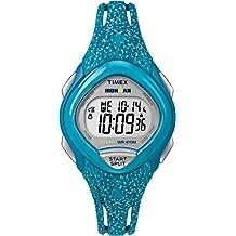Timex Women's TW5M08800GP Sport Ironman Digital Sleek 30-Lap Blue
