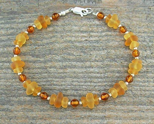 Frosted Sea Glass and Amber ()