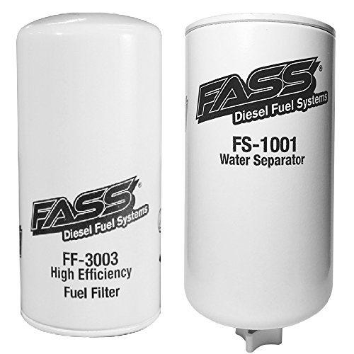 FASS Titanium Series Fuel Filter and Water Separator Combo With FF-3003 Fuel Filter and FS-1001 Water Separator for Fuel (Fuel Pump Filter System)