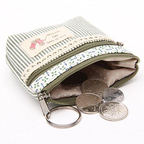 Netter Geldbeutel Münzfach Brieftasche Leinwand Mini-Geldbeutel , D